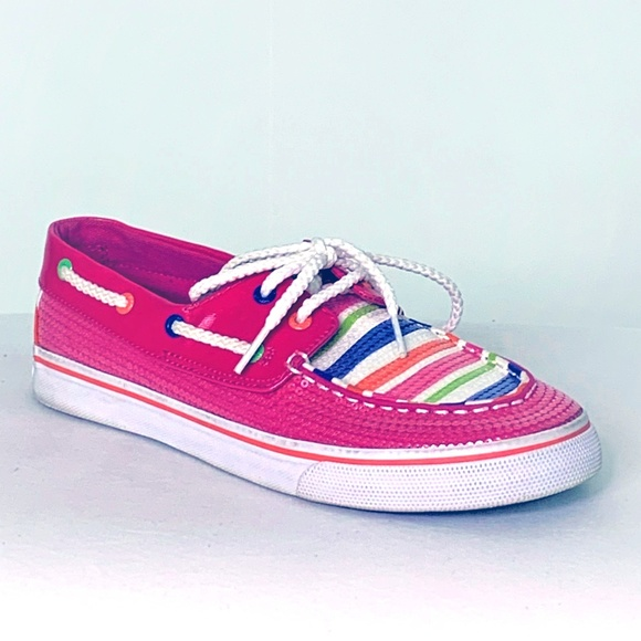 Sperry Other - Sperry top-sider Pink Sequin Boat Shoe Kid